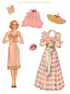 bridesmaid paper doll - perfect table setting surprise for your flower girls