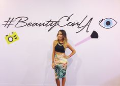 I painted Lynette Cenee's nails for BeautyCon LA! It was such a fun day- check out her video!  xx