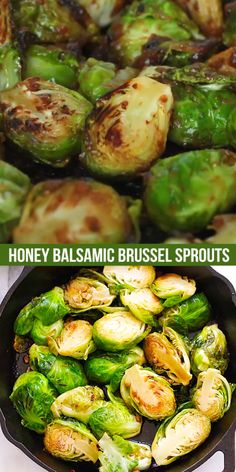 Honey Balsamic Brussels Sprouts - quick and healthy sauteed Brussels Sprouts with honey and Balsamic vinegar. A perfect side dish for dinner!
