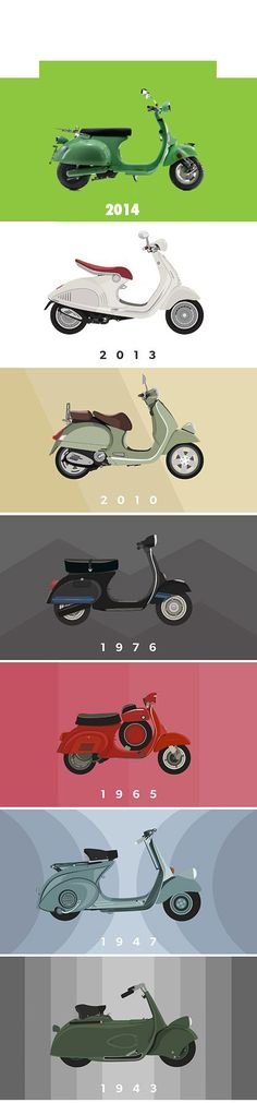 geboorte jaren retro scooters