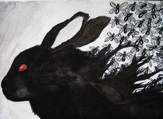 The Black Rabbit on Inle by ~Inkwerk