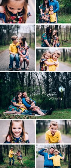 Light & Childhood: My Favorite Props. Outdoor Spring portrait session for a family of four with brother and sister siblings. Poses. Spring Hill TN Photographer