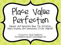 Here's a set of place value mystery cards where students read the clues and determine the number.
