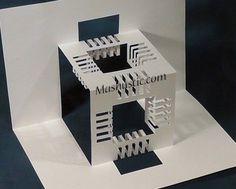 Как сделать 3d кубик из бумаги