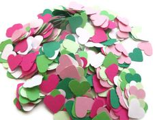 SALE+Set+of+600+Heart+Confetti+in+Pinks+White+by+MoosesCreations,+$3.85