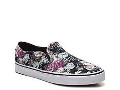 Vans Asher English Rose Floral Slip-On Sneaker - Womens