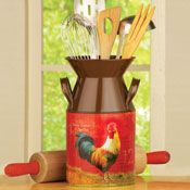 Country Kitchen Rooster Milk Canister