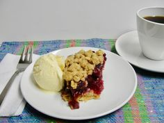 Last summer a reader asked me if she could substitute Morello cherries for canned cherry pie filling to make my Easy Cherry Crisp. I had never tried making a pie or crisp with Morello cherries but … Cherry Crumble, Canning Cherry Pie Filling, Crisp, Waffles, Just Desserts, Ice Cream, Breakfast, Easy, Food