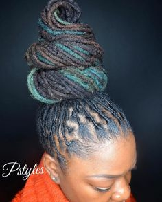 """60 Likes, 4 Comments - Paul Styles (@pstyles3) on Instagram: """"Swirled top notch bun by Pstyles!! #locjourney #loccurls #locstyles #naturalista…"""""""