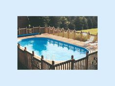 Great deck around this Doughboy pool