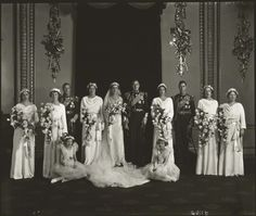 The wedding of Prince George, Duke of Kent and Princess Marina, Duchess of Kent, by Bassano Ltd, 29 November 1934 National Portrait Gallery, London