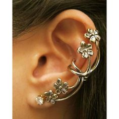 New Vintage Exaggerated Flower Single Clip for only $9.99 ,cheap Earrings Studs - Jewelry&Accessories online shopping,New Vintage Exaggerated Flower Single Clip