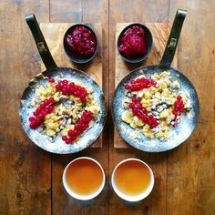 """This Is What Breakfast Looks Like Around The World #refinery29  http://www.refinery29.com/2015/12/98897/breakfast-recipes-around-the-world#slide-4  Austria: Kaiserschmarrn""""More of a dessert, but also a weekend brunch, this was the favorite pancake of Kaiser Joseph I of Austria. 'Schmarrn' literally means 'shredded,' and what you end up with in the pan is a mix of soft pancake and crispy bits. The Kaiser had good taste.""""..."""
