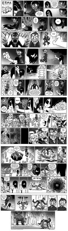 Erma- Wallace's Fallout by BJSinc on DeviantArt Cute Comics, Funny Comics, Erma Comic, Comics Story, Short Comics, Horror Comics, Cute Creatures, Manga Comics, Comic Artist