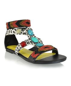 Take a look at this Black Nation Sandal by iPROMISEu on #zulily today!