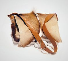 African springbok and genuine leather satchel by Taylor Covington. Handcrafted in Cape Town, South Africa.