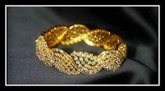 Diamond-studded gold bracelet! #gold #diamond #bracelet #jewelry #jewellery #design #beautiful #accessories #Indian #traditional #elegant #royal #exclusive #exquisite #unique