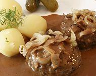 Danish Food Culture - Danish   Danish meatballs with potatoes and brown sauce yumm