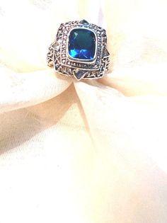 Paraiba Tourmaline Statement Ring Unisex by NorthCoastCottage, $199.00#handmade #jewelry #etsy