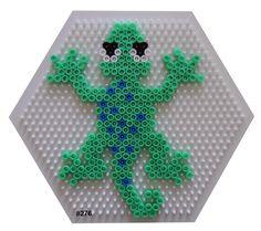 Lizard Hama perler pattern