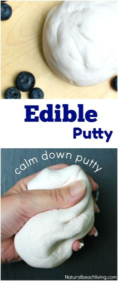 How to Make Edible Thinking Putty Easy 2 Ingredient Recipe Edible Sensory Play Special Needs Stress Reliever Perfect for a fidgeter or anxiety Love it Edible Sensory Play, Edible Slime, Sensory Bags, Sensory Activities, Activities For Kids, Diy Slime, Sensory Play Recipes, Homemade Playdough, Indoor Activities