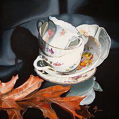Tea for Three - oil on board - © Alex Zonis