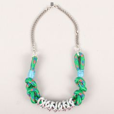 Rope Necklace Green now featured on Fab.