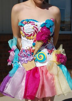 Katy Perry california gurls candy cupcake dress Halloween costume I made custom made to look exactly like the original from video prob watched that video 800 times to get every detail!