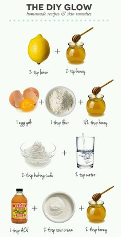 4 recipes for glowing skin :) I can do this while watching my fav show