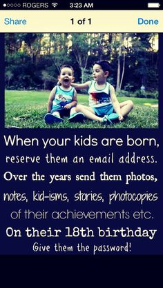 Make an email address for your kids