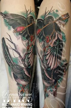Traditional magpie tattoo - photo#42
