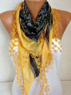 ON SALE -   Scarf  Spring Summer Scarf - Cotton Scarf - Necklace Cowl Gift Ideas For Her Women Fashion Accessories