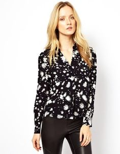 Whistles Fire Print Blouse