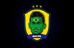 World Cup Stars Neymar World Cup Stars by Rudi Gundersen