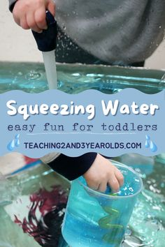 Put together a toddler water activity that is perfect for strengthening fine motor skills. All you need are basters and a container of water, and your kids will be kept busy for quite awhile! #toddlers #water #finemotor #squeezing #play #sensory #2yearolds #teaching2and3yearolds Sensory Activities, Toddler Activities, 3 Year Olds, Water Play, Toddler Fun, Fine Motor Skills, Teaching, Toddlers, Kids