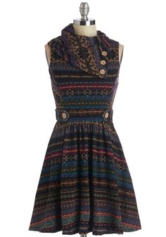 ModCloth Short Length A-line Coach Tour Dress in Fair Isle from ModCloth. Saved to dresses. Cute Dresses, Casual Dresses, Fashion Dresses, Dresses Dresses, Long Dresses, Evening Dresses, Retro Vintage Dresses, Vintage Outfits, Pretty Outfits