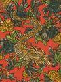 Robert Allen fabric pattern Ming Dragon in persimmon