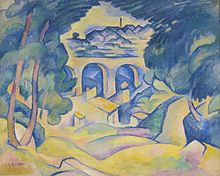 Georges Braque, 1907-08, The Viaduct at L'Estaque (Le Viaduc de l'Estaque), oil on canvas, 65.1 x 80.6 cm, Minneapolis Institute of Arts