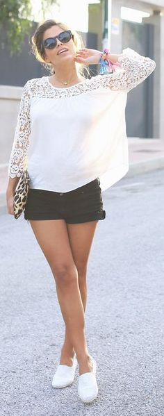 White Crochet And Espadrilles Streetstyle by Seams For a Desire