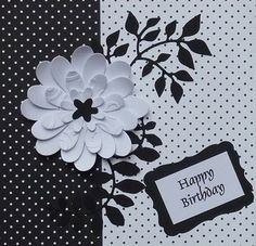 I love black and white cards and was thrilled when I learned it was the topic for the card group that I go along to. Co-ordinating dotty p...