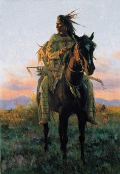 """Hand painted oil painting of a warrior and his steed. Size: 24"""" x 36"""". Unframed. FREE SHIPPING. As this is hand painted there may be minor variations from the p"""