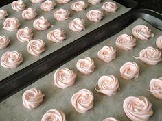 Meringue rosettes - bridal shower party favors