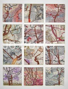 Textile Trees Embroidery on Etsy, $85.00