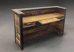 Image result for recycled wooden reception desk