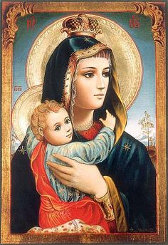 Holy mother Mary and her child Jesus. Jesus And Mary Pictures, Images Of Mary, Mary And Jesus, Mother Of Christ, Blessed Mother Mary, Blessed Virgin Mary, Religious Pictures, Religious Icons, Religious Art