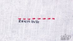 Embroidery Stitches Tutorial How to do a Running Stitch - If you've always wanted to learn embroidery stitches, here's the perfect guide for you. I have a video tutorial for each embroidery stitch. Hand Embroidery Videos, Embroidery Stitches Tutorial, Embroidery Sampler, Learn Embroidery, Sewing Stitches, Hand Embroidery Patterns, Cross Stitch Embroidery, Creative Embroidery, How To Embroider Letters