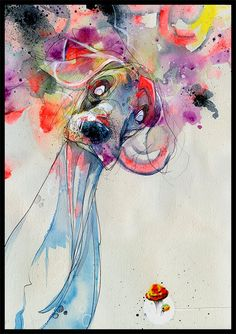 Dog Art Print Dog Wall Art Print of Original by BlackInkArtz, $12.00