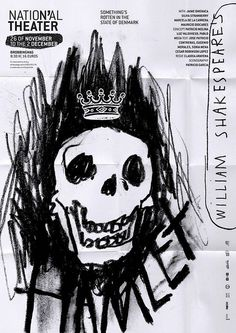 Hamlet by Javier Triviño #scribble #poster #Shakespeare