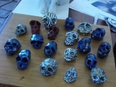 headz on table. These cold be separated into boxes. People would receive a skull in a box. Maybe even a handwritten quote from the movie? From the legend of the Munkey King?