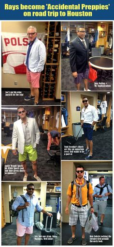 TAMPA BAY RAYS - We've seen  camo gear. We've laughed at nerds and we've shielded our eyes from Joe Dirt-inspired wigs.  But now, the calendar is turning to July. It's hot out there. So Joe Maddon and the Rays broke out their summer prep wardrobes before Sunday's road trip to Houston.